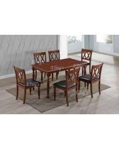 Table de salle à manger AMMELIA (6 chaises)